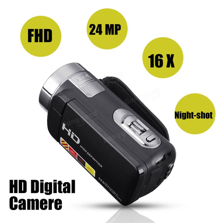 3.0 inch 1080P FHD Video Camcorder Night-shot 24MP Digital Camera With Remote Control