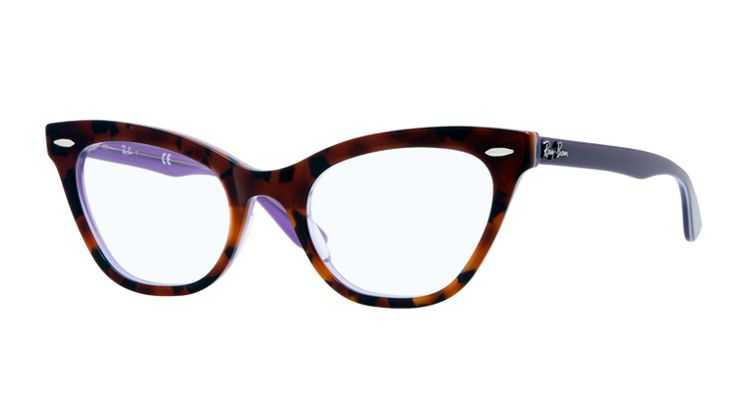 Ray ban cat eye with purple lining and arms.  RB5226