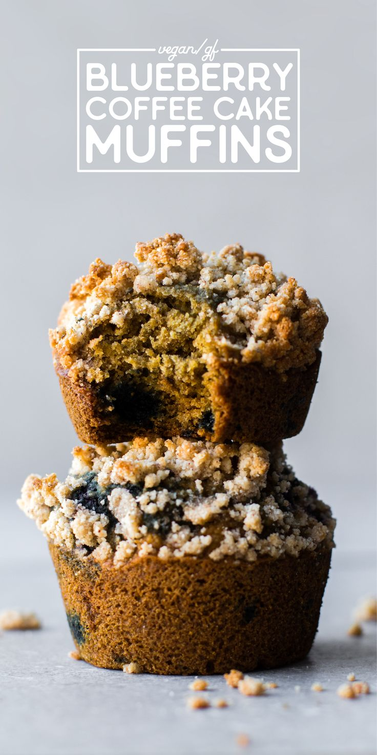 Coffee cake gets a summer berry makeover with these Blueberry Coffee Cake Muffins--a perfect vegan and gluten-free breakfast or streusel-topped snack!