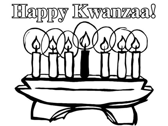 December Holiday Kwanzaa Coloring Pages Happy Kwanzaa Kwanzaa