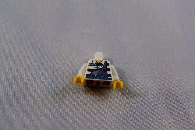 Lego Mini Figure Prison Outfit Criminal Robber Shirt 7818 | eBay