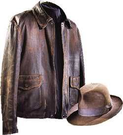 """December 18, 1946: Steven Spielberg, director of """"Raiders of the Lost Ark,"""" is born. This is Indiana Jones's hat and jacket in our collection."""