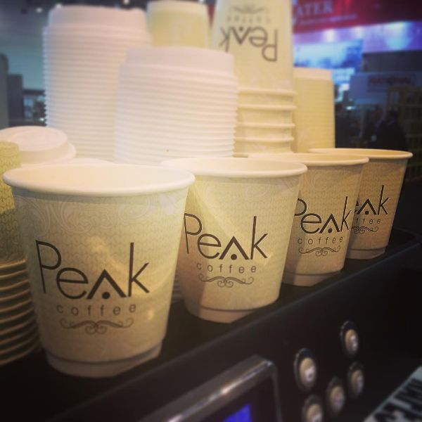 Repost from the team at Peak Coffee Australia (www.peakcoffee.com.au) who are keeping everyone updated from the #melbourne #FineFoodExpo #CastawayCups #printedcoffeecups