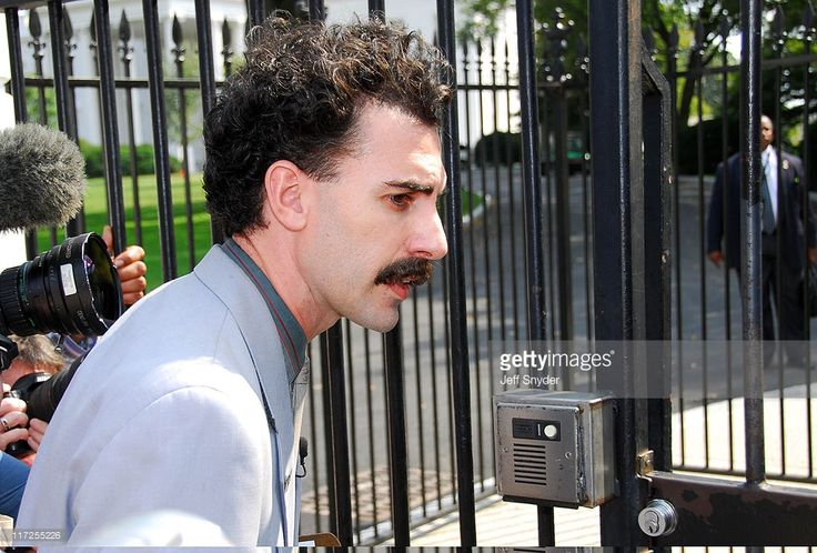 Sacha Baron Cohen, in character as Borat Sagdiyev during Sacha Baron Cohen as Borat Sagdiyev Press Conference at the Embassy of Kazakhstan and the White House at Embassy of Kazakhstan & White House in Washington, DC, United States.