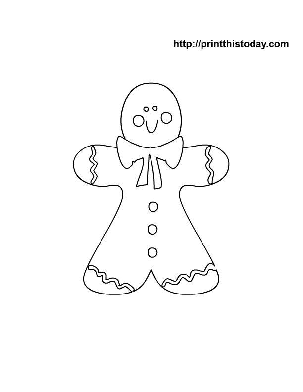 Oltre 20 migliori idee su Gingerbread man coloring page su