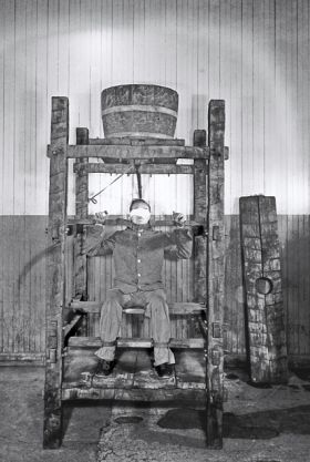Chinese Water Torture.  Victims were strapped down so that they could not move, and cold or warm water was then dripped slowly on to a small area of the body; usually the forehead. The forehead was found to be the most suitable point for this form of torture because of its sensitivity: prisoners could see each drop coming, and after long durations were gradually driven frantic as a perceived hollow would form in the center of the forehead.