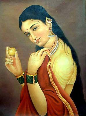 Every Woman a Goddess - The Ideals of Indian Art .Raja Ravi Varma's painting.