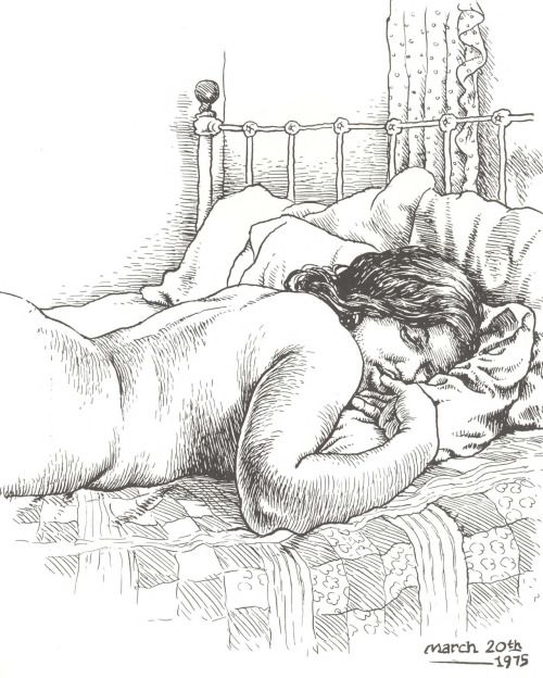 "beneaththeearthscrust: "" Aline asleep, by Robert Crumb """