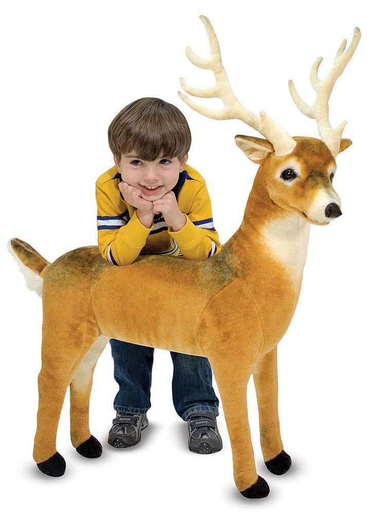 Melissa And Doug Reindeer Deer Plush Stuffed Animal Gift
