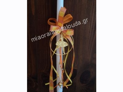 HANDMADE EASTER CANDLE WITH BALLERINA DECORATION