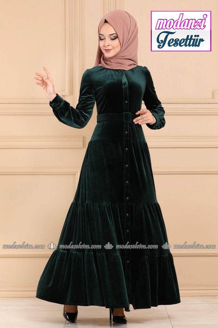 Tesettur Elbise Hijab Dress Panosundaki Pin
