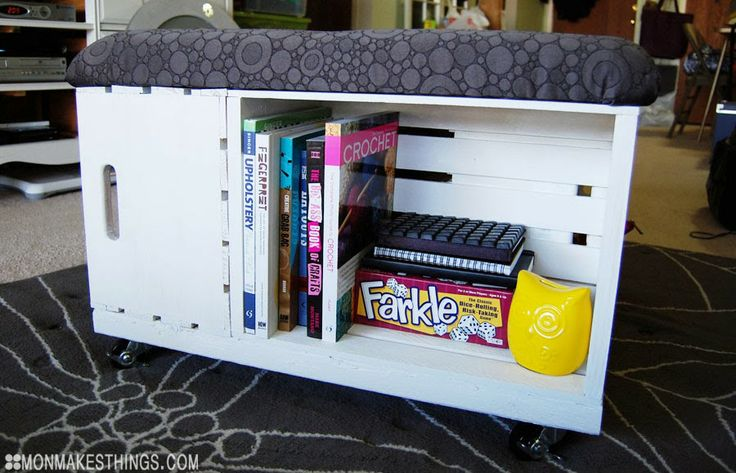 Pretty ambitious but she makes it seem doable... mon makes things: Storage Ottoman DIY