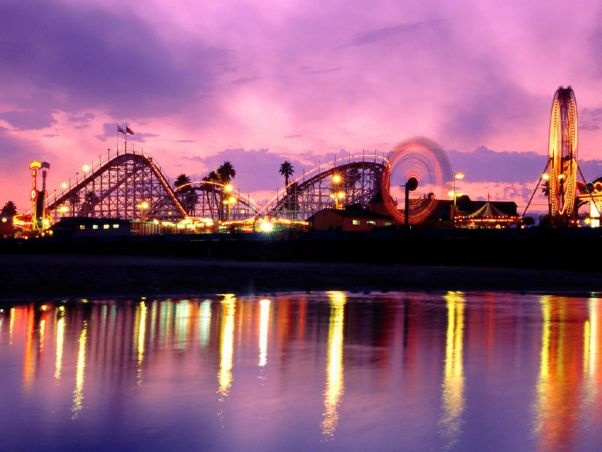 Santa Cruz Boardwalk. I've always wanted to go to one of these outdoor, beachy amusement parks <3