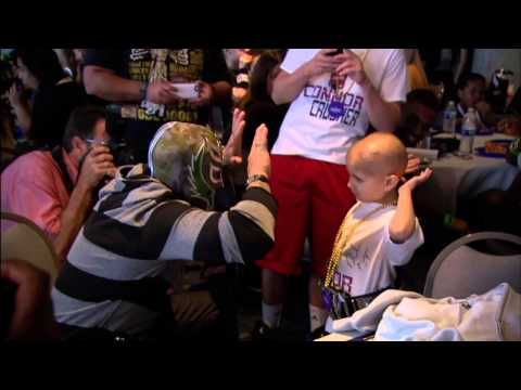 """The WWE recently released a tribute video for Connor """"The Crusher"""" Michalek, an 8-year-old fan who recently died of pediatric brain cancer. 