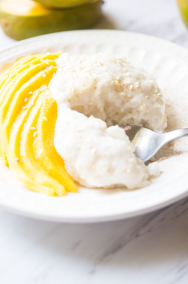 Mango Sticky Rice With Coconut Cream