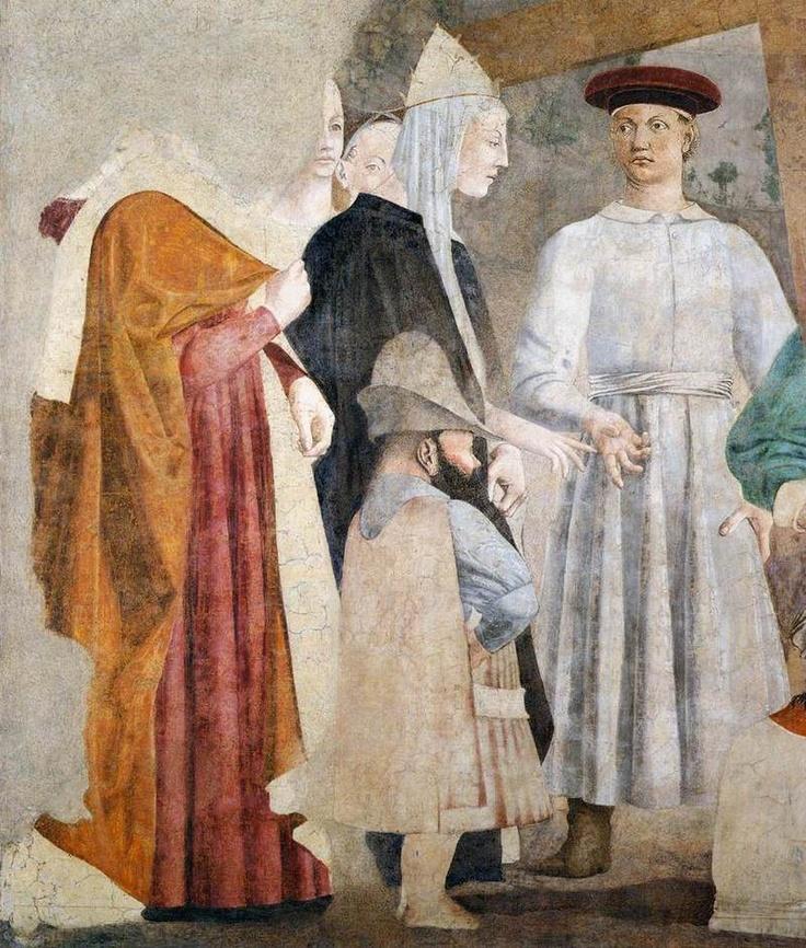Finding of the True Cross (detail) 1452-66 Piero Della Francesca
