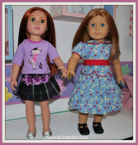 Carpatina slim body doll comparison with American Girl Doll