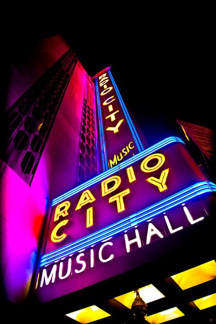 Radio City Music Hall is an Entertainment Center located in Rockefeller Center in New York City. It's nickname is The Show Place of the Nation.