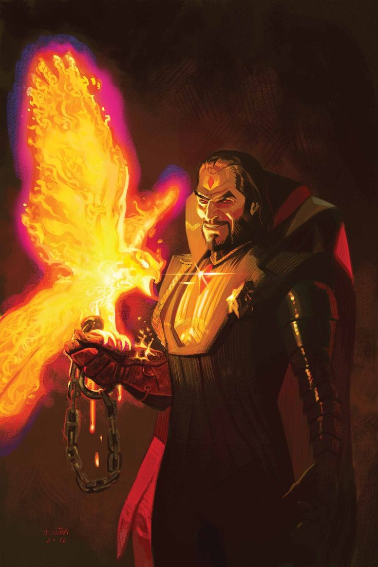 Mister Sinister Tames The Phoenix Force by Daniel Acuña