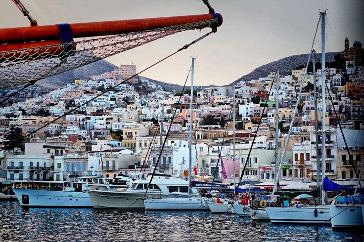 Ermoupolis port