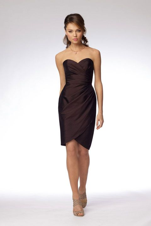 Sweetheart taffeta bridesmaid dress with dropped waist