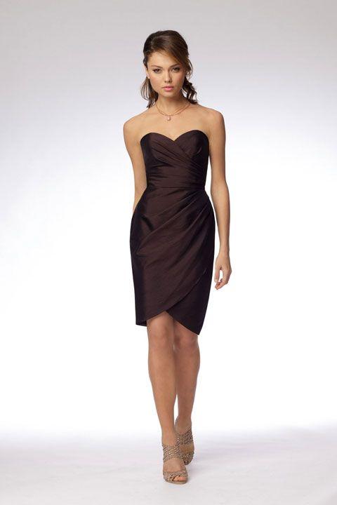 Sweetheart taffeta bridesmaid dress with dropped waist