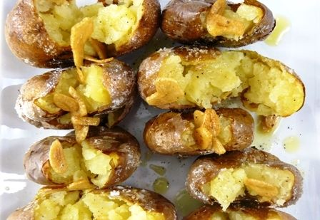 Batatas a Murro, or Smashed Potatoes, is a traditional Portuguese potato dish that has a unique style of preparing and serving the potatoes.