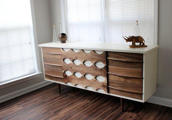 Mid Century - Walnut - Dresser   Handmade and custom built walnut dresser, made in Atlanta, GA. Revitalized Artistrys mid-century inspired
