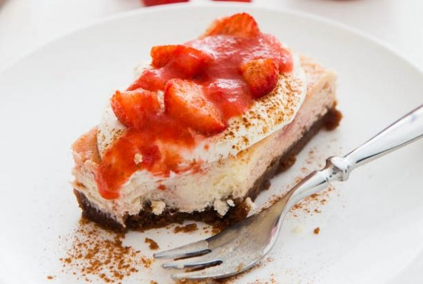 Aardbei-limoencheesecake