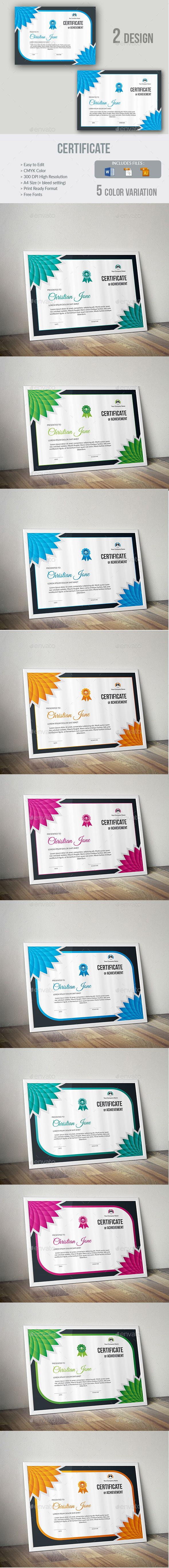 Certificate #awarded #clen  • Download here → https://graphicriver.net/item/certificate/20470390?ref=pxcr