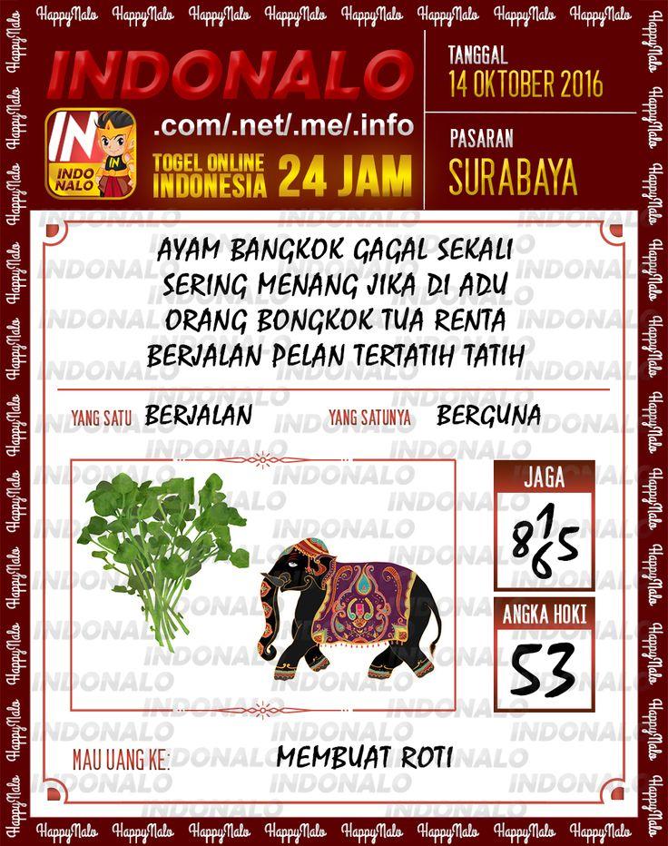 Colok SDSB Togel Online Live Draw 4D Indonalo Surabaya 14 Oktober 2016