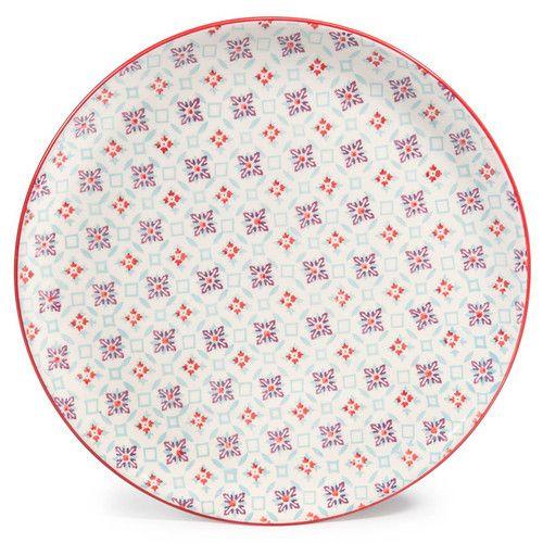 Piatto piano Cocotte multicolore in ceramica D 27 cm