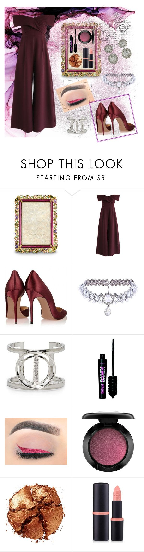 """""""Bordeaux"""" by ale-mada ❤ liked on Polyvore featuring Jay Strongwater, Chicwish, WithChic, Vince Camuto, Benefit, John Lewis, Pat McGrath and Forever 21"""