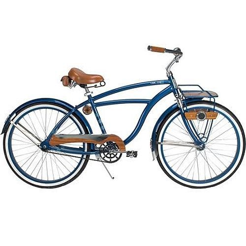 """Vintage Mens Cruiser Bike Beach 26"""" Bicycle Road Comfort Rack Steel Frame Blue #Huffy #VintageBeachBicycle"""