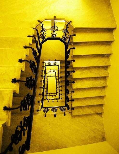 Yellow and Black Staircase