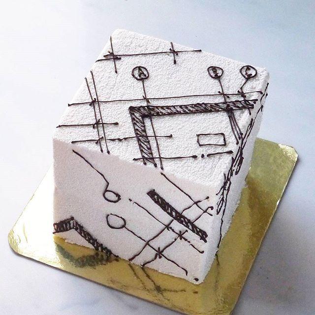 Architectural Cube cake for diabetic! ▫◽◻⬜◻◽▫ My adorable design!  Диабетический архитертурный торт-кубик. Ощущение, что я вообще красители не использую 🙈🙈🙈 но я действительно люблю натуральные цвета продуктов ☺👍 #dessertmasters#architecture#cakeforarchitects#gastroart#gastrogram#hipsterfoodofficial#chocolatejewels#cubecake#cakedesign#cakeart#whitecake#valrhonachocolate#architectureporn#foodart#diabetic#diabeticcake