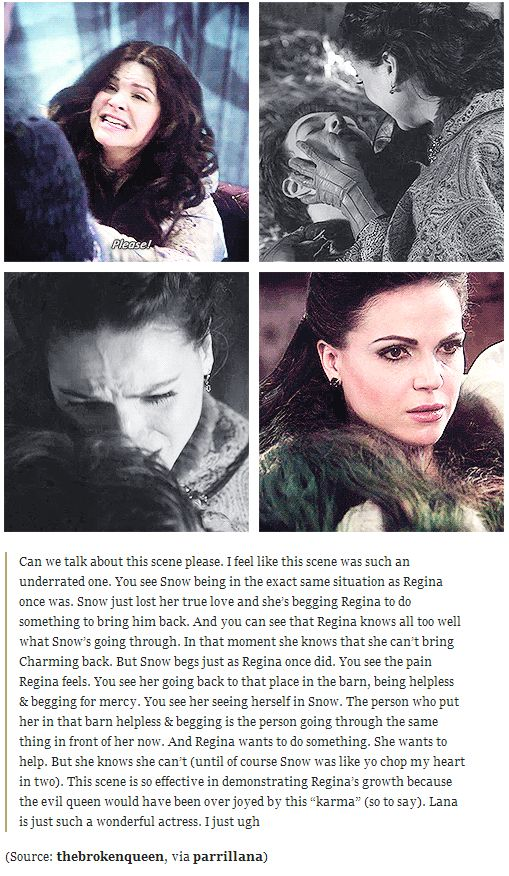 Once Upon A Time; Character Developement. Regina and Snow White.