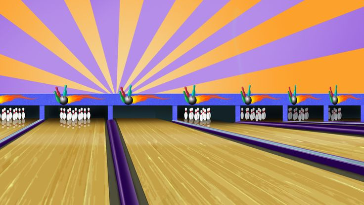 This is the animated image of a bowling alley