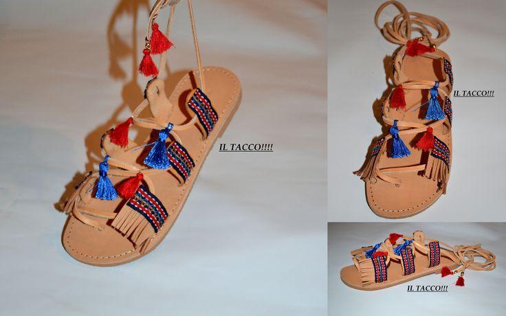 Handmade Ancient Greek Sandals, Cords, Braids, Fringes, Tassels!!! Il Tacco!!!