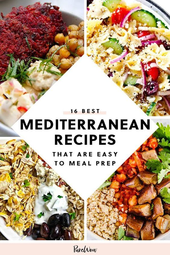 16 Mediterranean Diet Recipes That Are Easy To Meal Prep In 2020 Easy Mediterranean Diet Recipes Mediterranean Diet Recipes Mediterranean Recipes
