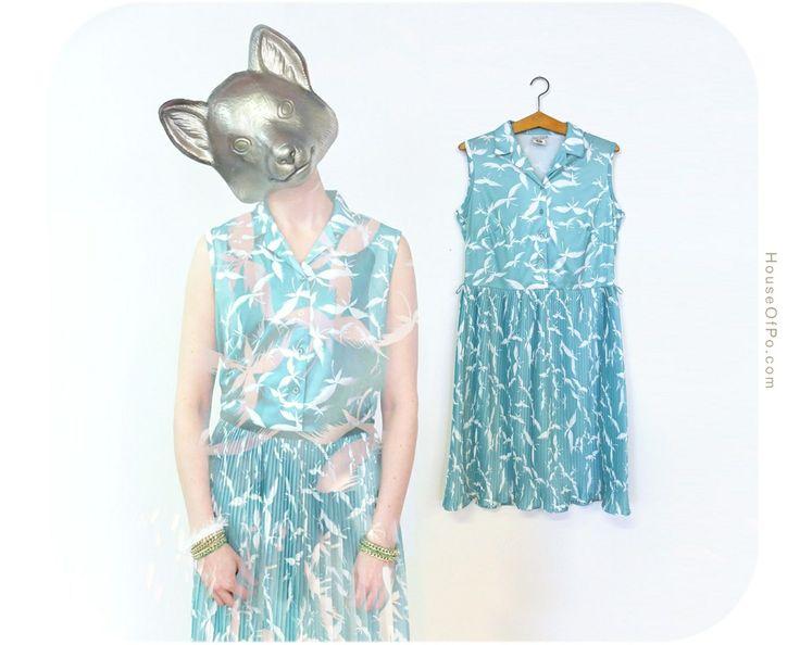 From ReFash.net - Mint green 90's summer dress