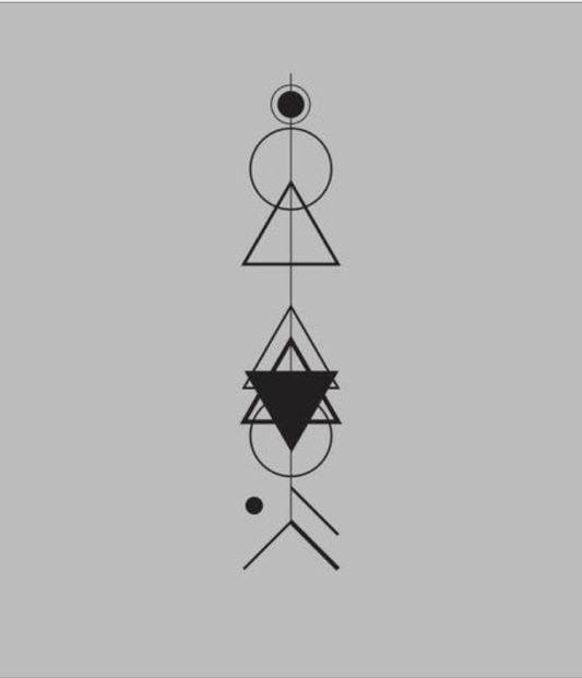 Arrow tattoo geometric tattoo