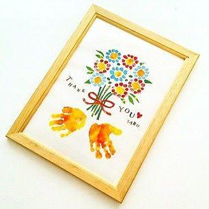 敬老の日に送りたい赤ちゃんの手作りメッセージカード手形! | 気になる ...