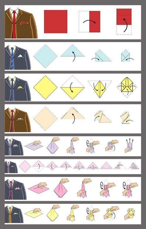 Las mejores maneras de doblar el pañuelo en el blazer:   18 Datos gráficos que todo el mundo necesita saber en la vida