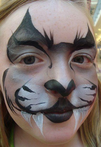 Easy Raccoon Face Paint