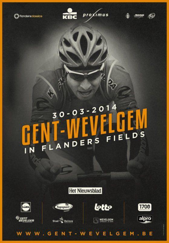 GAND-WEVELGEM - 76e édition - 30 mars 2014 - 7e épreuve de l'UCI World Tour 2014. Ce Gand-Wevelgem est la deuxième des quatre classiques flandriennes inscrites à l'UCI World Tour. Il se déroule deux jours après Grand Prix E3 et une semaine avant le Tour des Flandres. Wikipédia