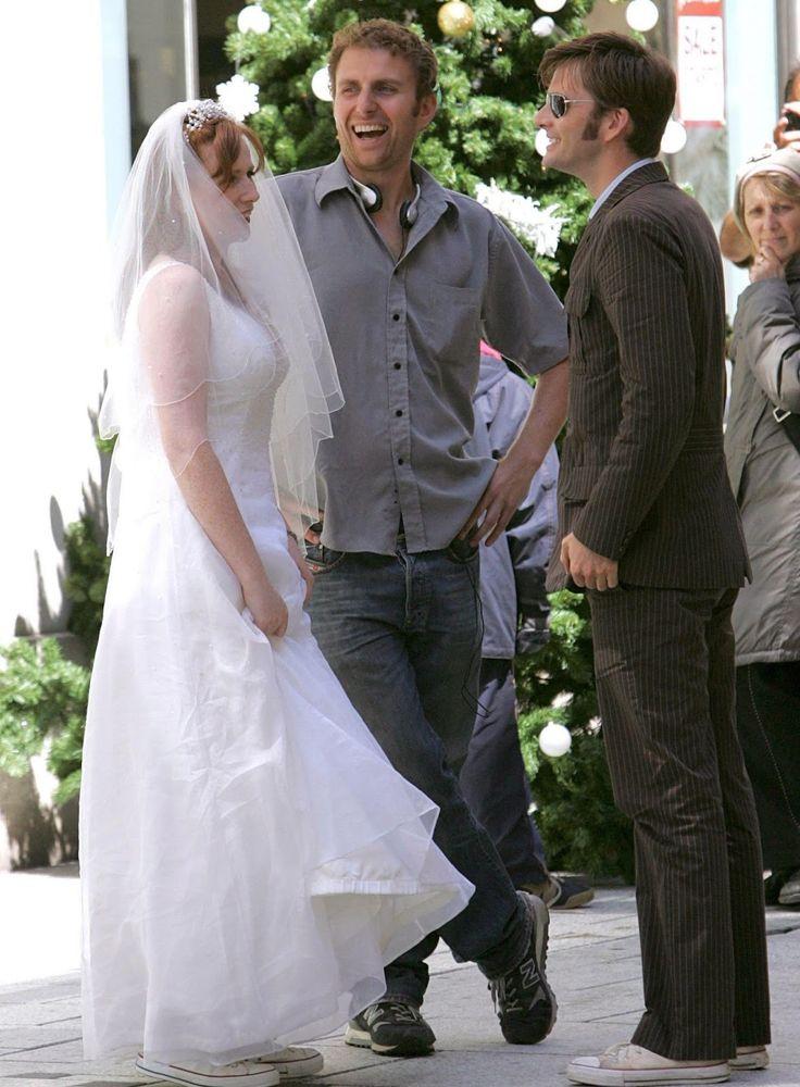 PHOTOS David Tennant & Catherine Tate Filming The Runaway