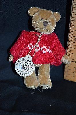 Retired Miniature Tiny Boyds Bears Christmas Bears 3 inch