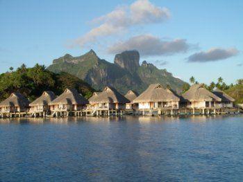 things to do in tahiti, bora bora hut on lagoon