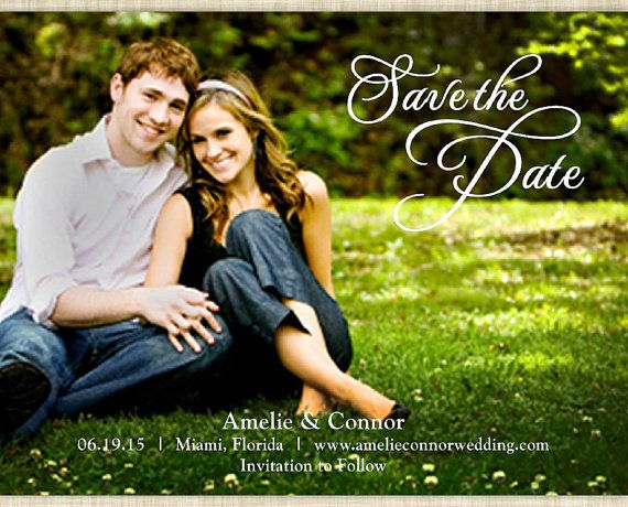 Photo Postcard Save The Date Free Printable  Photo Postcards